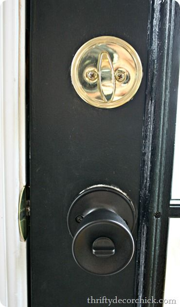 How to spray paint brass door knobs | Door knobs, Spray painting and ...