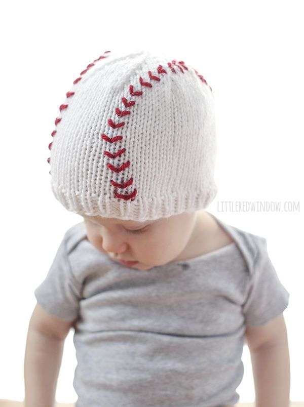 Baseball Baby Hat Knitting Pattern | Pattern | Pinterest