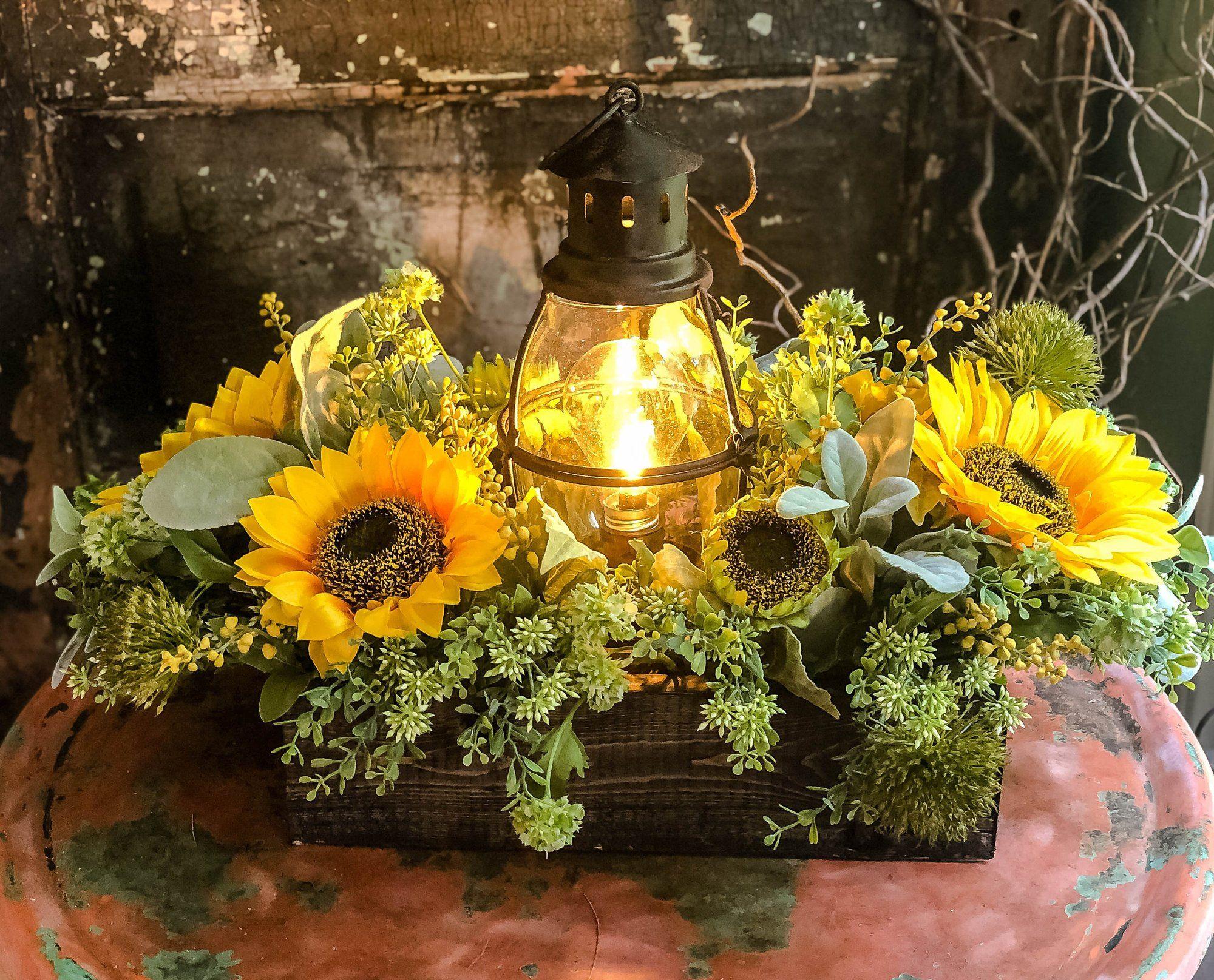 The Marigold Rustic XL Summer Sunflower Centerpiece