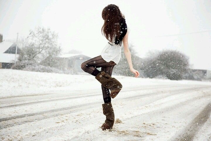 Dancing in the snow!!<3