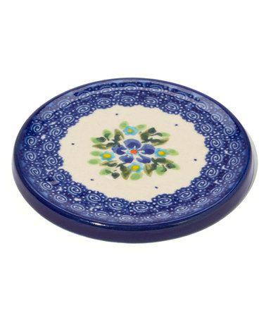 Ceramic Coaster Ceramic Coasters Polish Stoneware Polish Pottery