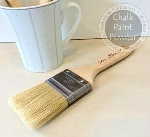 Chalk Pro Easy Paint Brush Large Our Chalk Pro Brushes Have All Natural China Bristles And Contoured Beaver Tail Hand With Images Easy Paintings Chalk Paint Powder Chalk