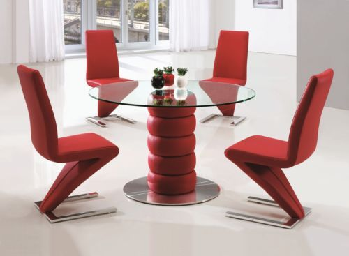 Awesome Details About Lugano Glass Leather Chrome Dining Room Table Camellatalisay Diy Chair Ideas Camellatalisaycom