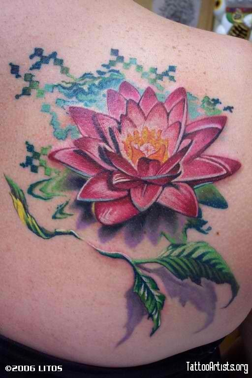 Lily Pad Idea But With White Flower Tattoos Tattoos Lotus