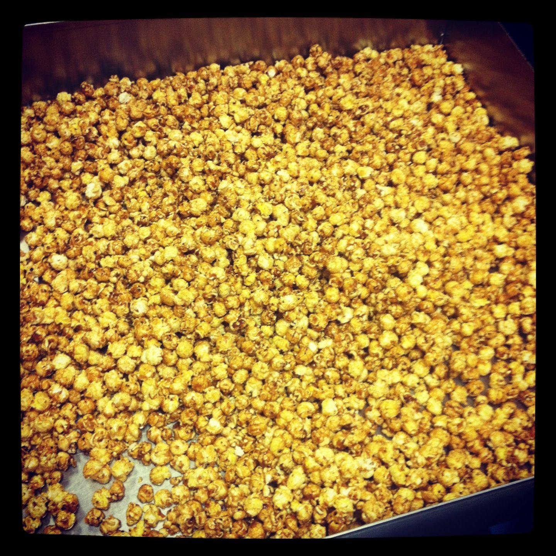 Caramel popcorn makes our taste buds smile :)