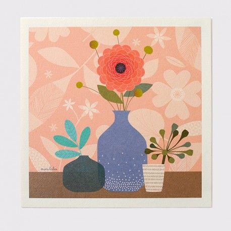 Affiche imprimée Flowers - Illustration originale signée Mini labo