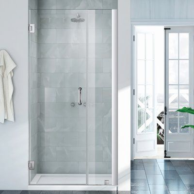 Wet Republic Havana 49 X 72 Hinged Shower Door Finish Chrome With Images Shower Doors Frameless Shower Doors
