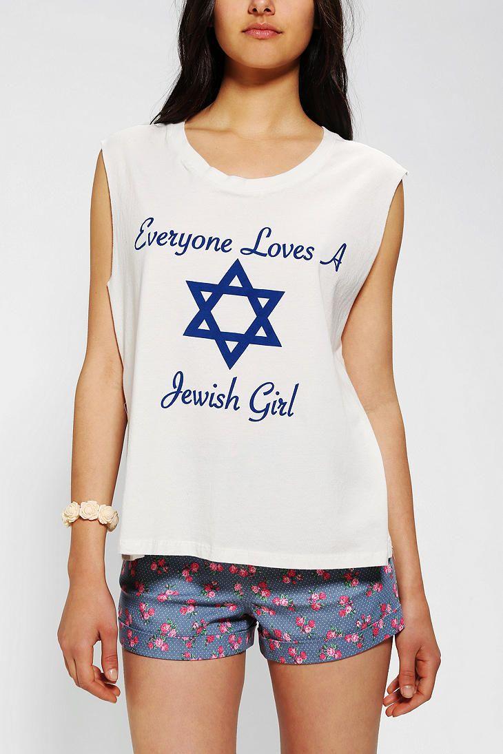 506111ff9ff Le Shirt - Everyone Loves A Jewish Girl Tee