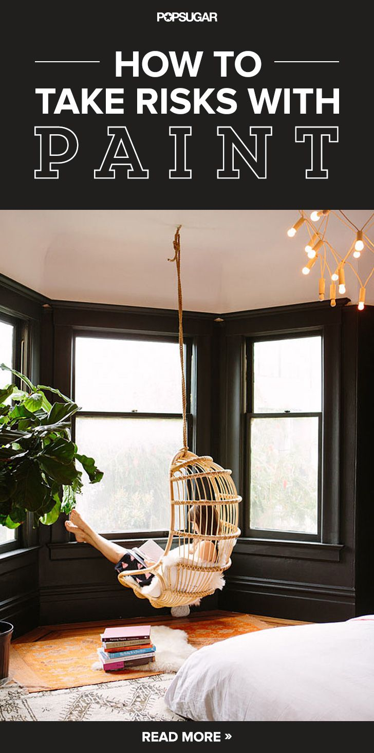Swing Chair In Bedroom How To Take Risks With Paint Just Love Nooks And House