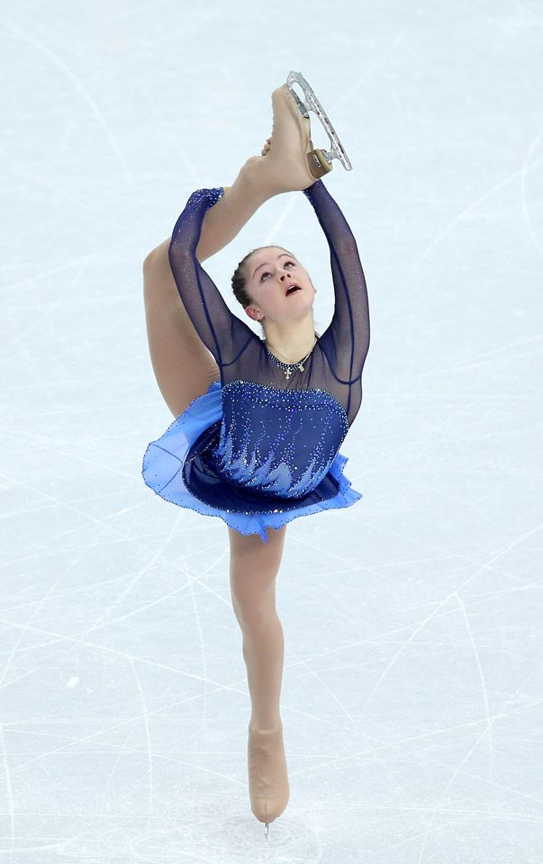 yulia lipnitskaya of russia competes in the figure skating team  yulia lipnitskaya of russia competes in the figure skating team ladies short program getty images
