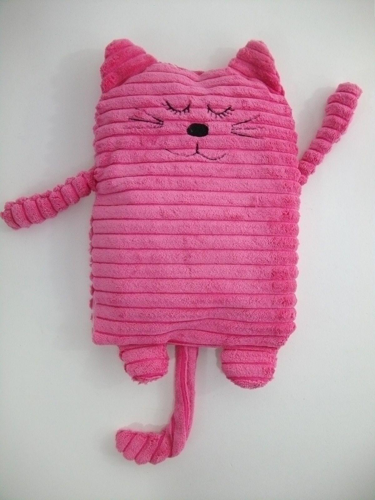 Katze pink rosa Mieze Wärmetier Körnerkissen Wärmflasche Kuscheltier ...