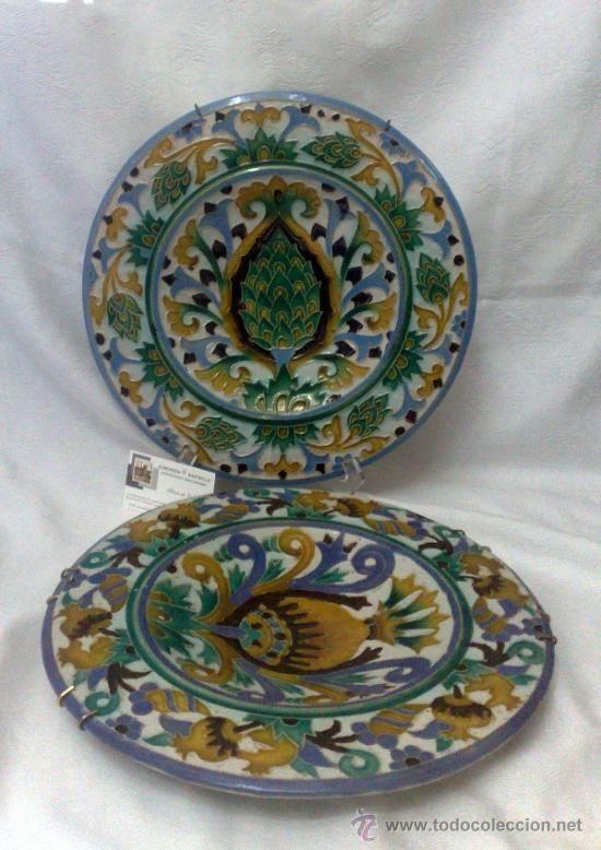 Sebastian aguado toledo pareja de platos platos - Platos de ceramica ...