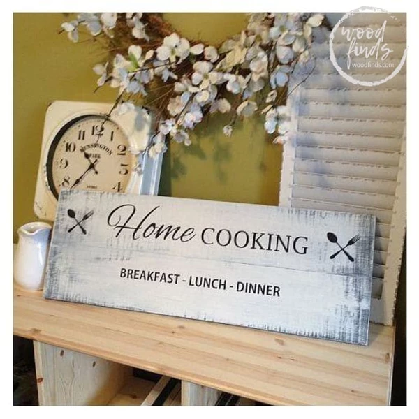Home Cooking Decorative Sign Handcrafted Wood Sign Wood Laundry Sign Laundry Signs Wooden Kitchen Signs