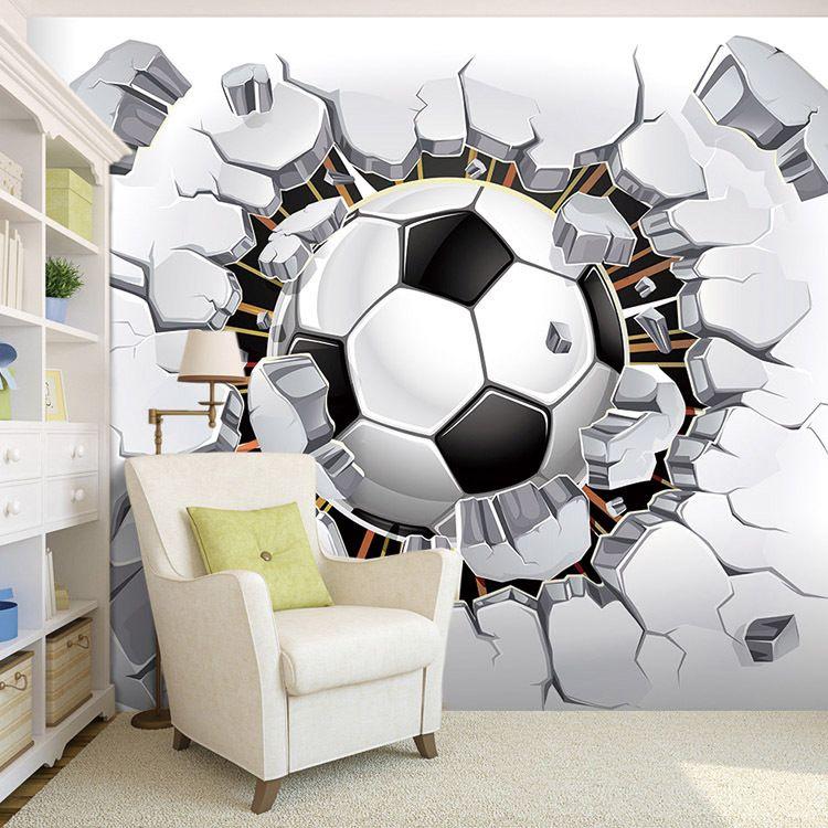 Encontrar Más Papel Pintado Información acerca de Fresco! fútbol foto del  papel pintado de la pared del fútbol Mural 3D fondos de escritorio pasión  para el ... 9f8628c16313b