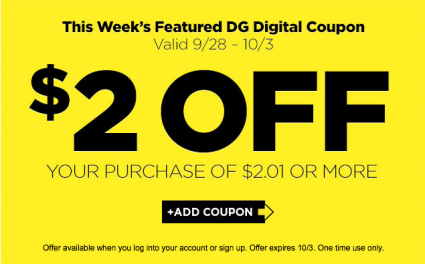 New 2 00 2 01 Dollar General Purchase Digital Coupon Store Coupons Digital Coupons Container Store