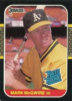 The Trading Card Database 1987 Donruss 46 Mark Mcgwire Baseball Cards Baseball Sports