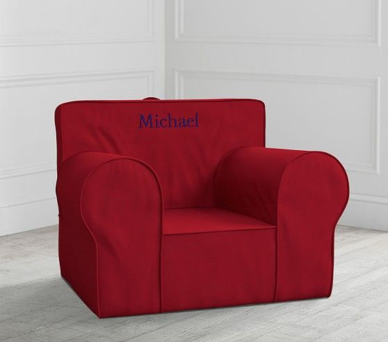 Oversized Red Anywhere Chair 174 With Images Slipcovers