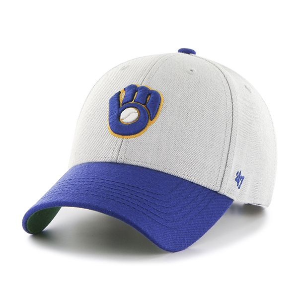 quality design 541a2 8e8ac Milwaukee Brewers Thurman MVP Gray 47 Brand YOUTH Hat
