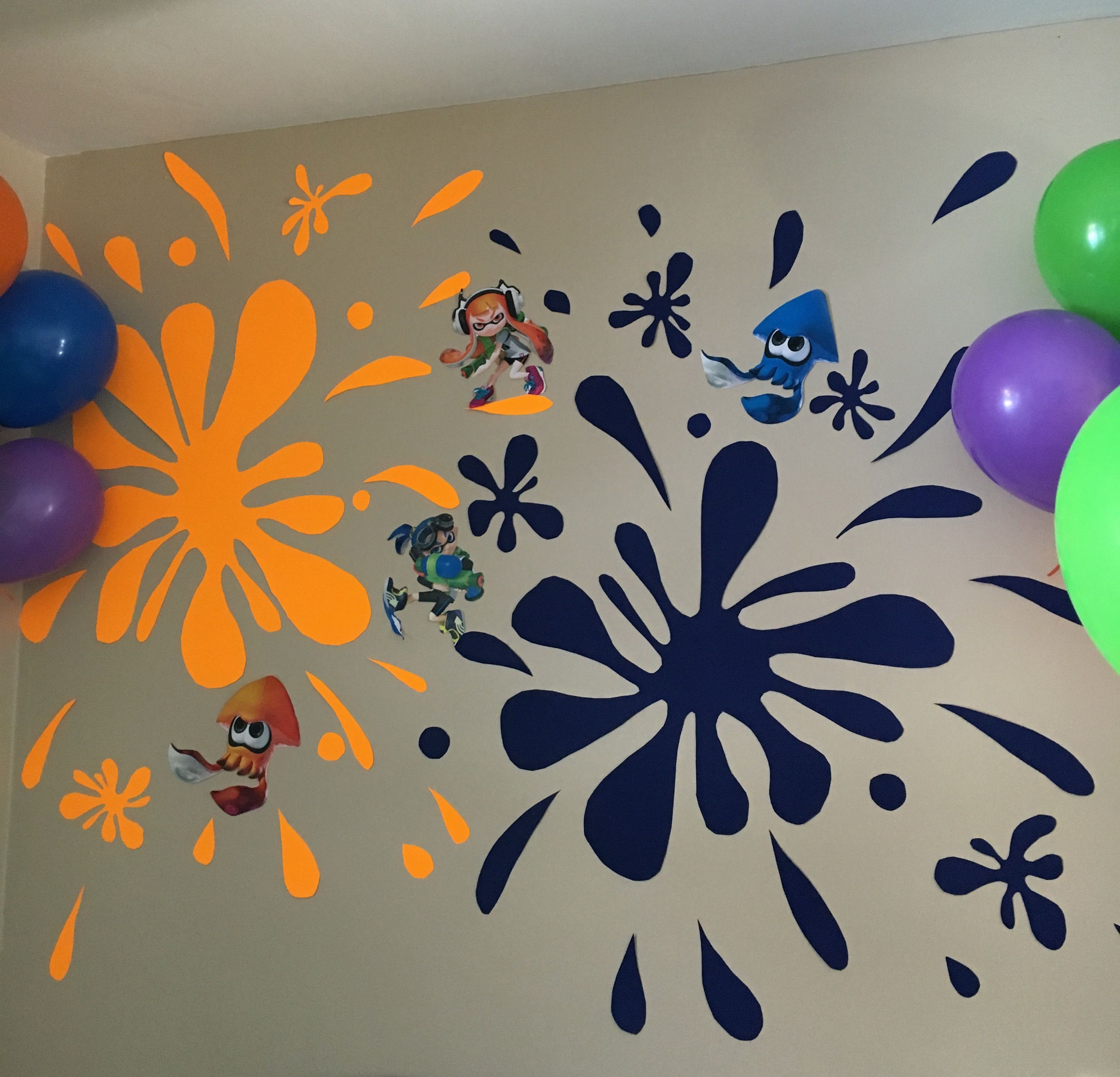 Splatoon Wall Decal Sticker Bedroom Vinyl Kids Art Decor Inkling Green