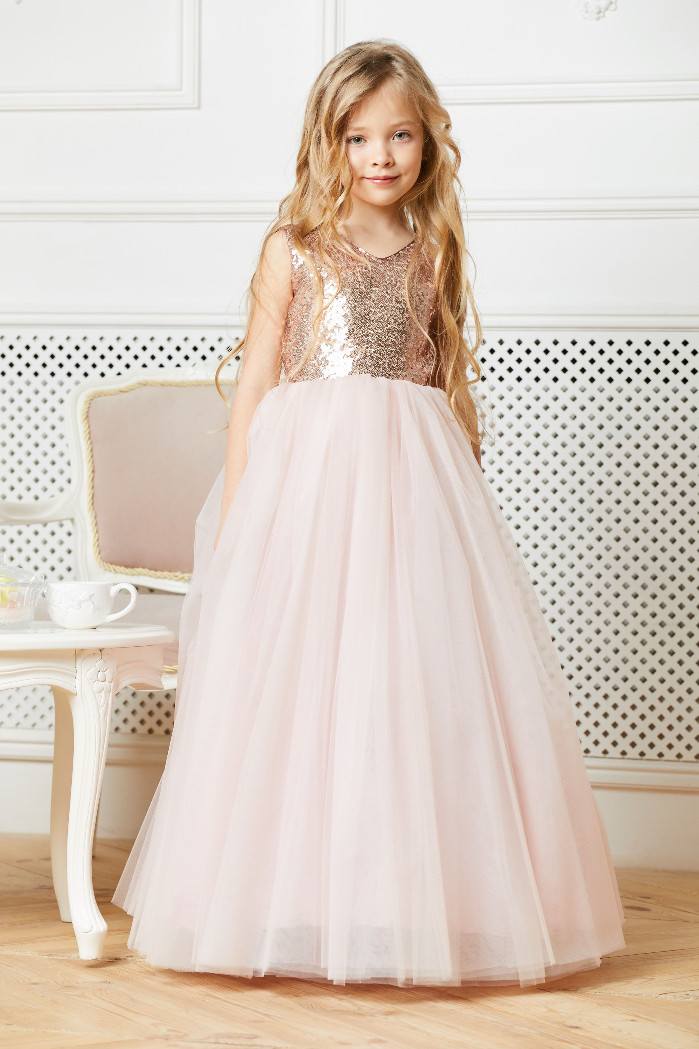 2a16df22e0 Blush flower girl dress tulle Sequin flower girl dress Pink junior bridesmaid  dress Tutu flower dress Wedding dress Toddler flower dress