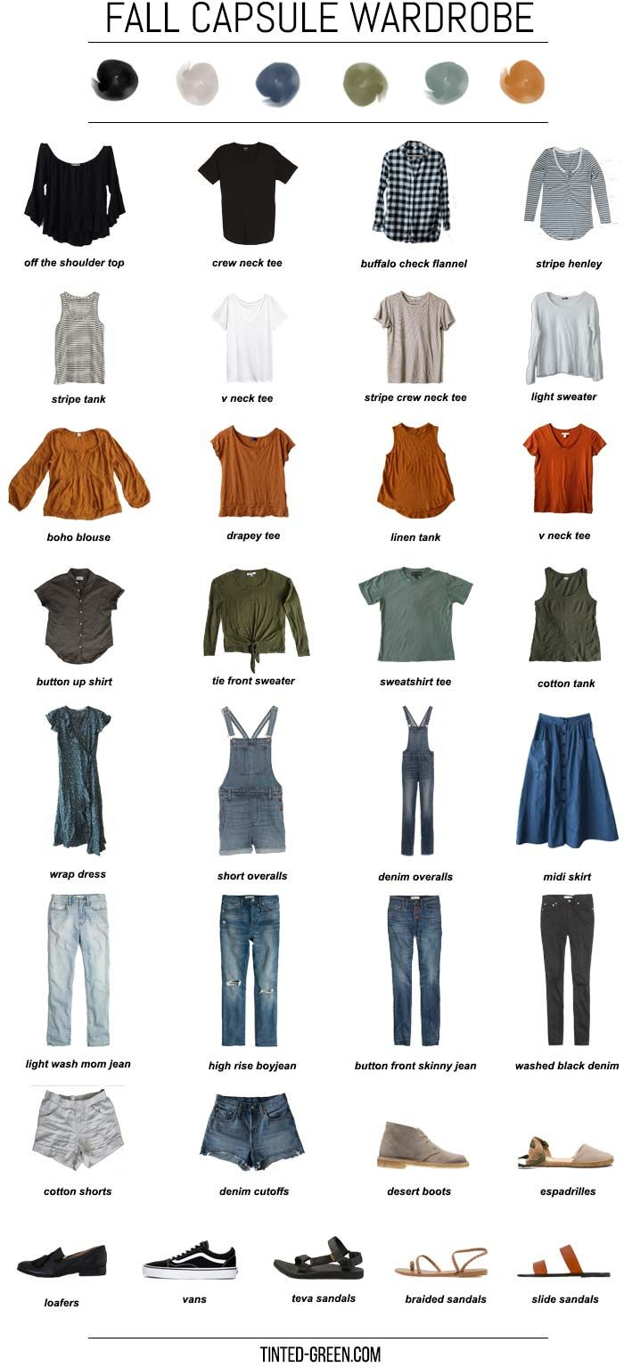 fall 2018 capsule wardrobe images