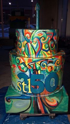 1 of 250 birthday cakes for St Louis 250th birthday St Louis