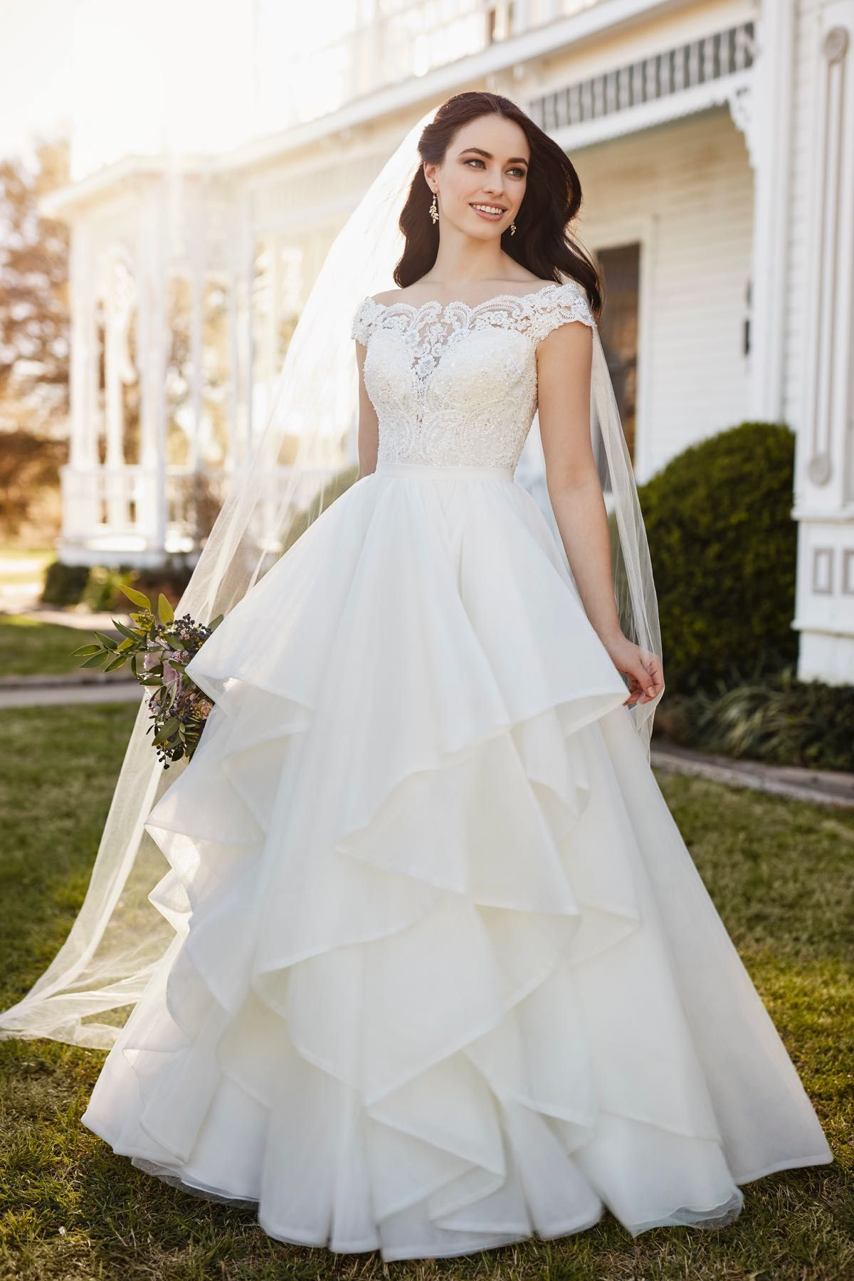 00d5b044066 Chelsi + Stevie  Classic Off-the shoulder Wedding Dress Separates by  Martina Liana. The Chelsi Corset and Stevie Skirt combine to create a  classic ...