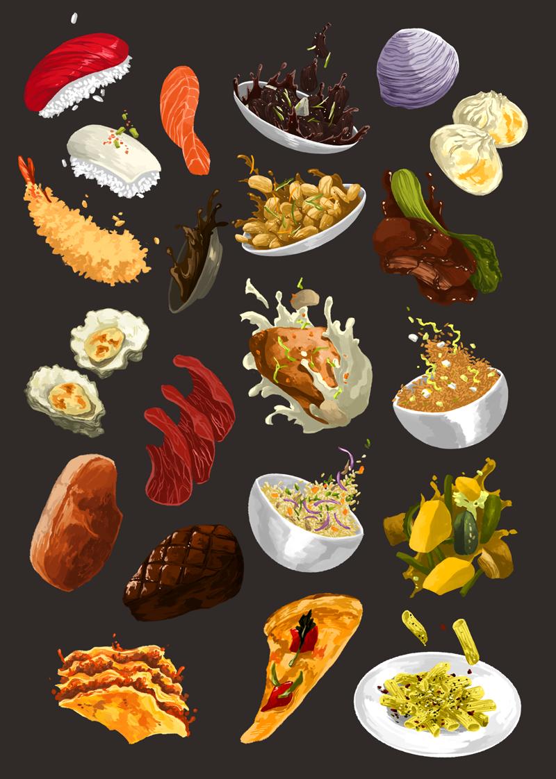 Flying Food Illustrated Food Pinterest Food Illustrations