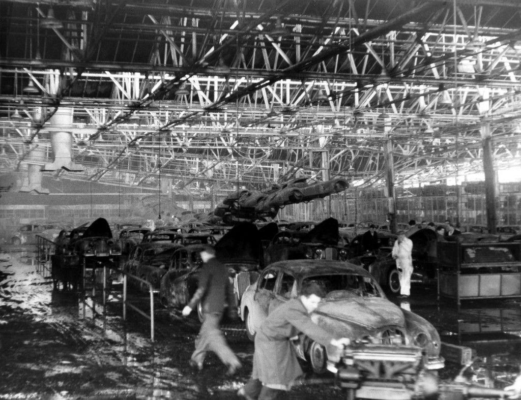 1957 Jaguar Factory Fire