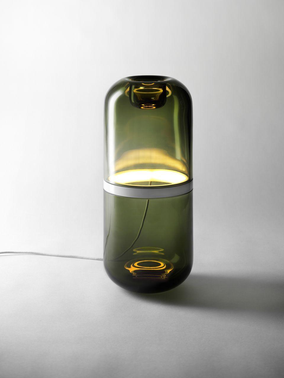 DEMI LAMP LARGE GREENGREEN | Glaslampen, Lampendesign