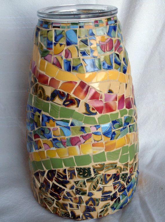mosaic art vase original design 11 1 2 by magicvalleymosaics mosaic vases pinterest. Black Bedroom Furniture Sets. Home Design Ideas