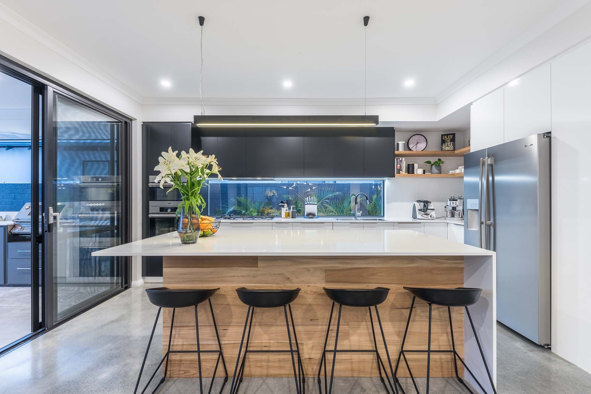Enjoy The Little Things There S A Lot Of Joy In This Kitchen By Promenade Homes They Ve Thought Of Everythin In 2021 Breakfast Bar Kitchen Breakfast Bar Kitchen Bar