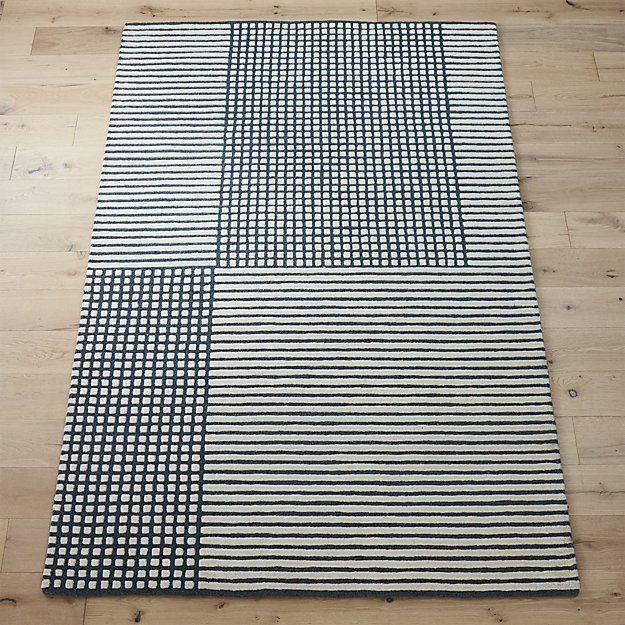 Shop aerial grey rug. Hand-tufted 100% wool rug weaves a ...