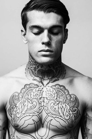 Stephen James Neck Tattoo For Guys Chest Tattoo Men Best Neck Tattoos