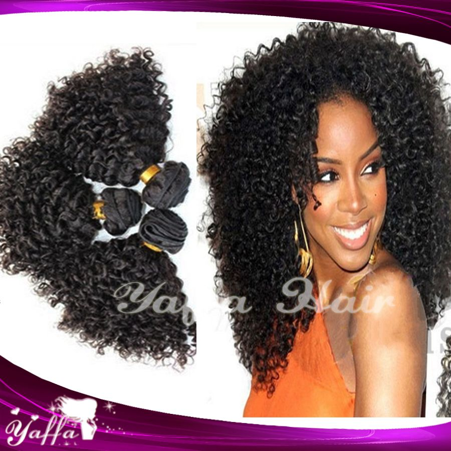 Free Shipping Ciara Hairstyle 1b Kinky Curly Mixed 3PCS Lot Virgin Brazilian Human Hair