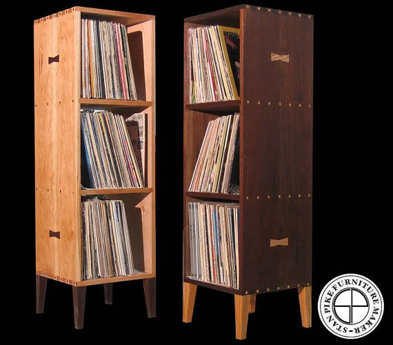 Deluxe Vertical Vinyl Record Album Storage Cabinet Por Stanpike