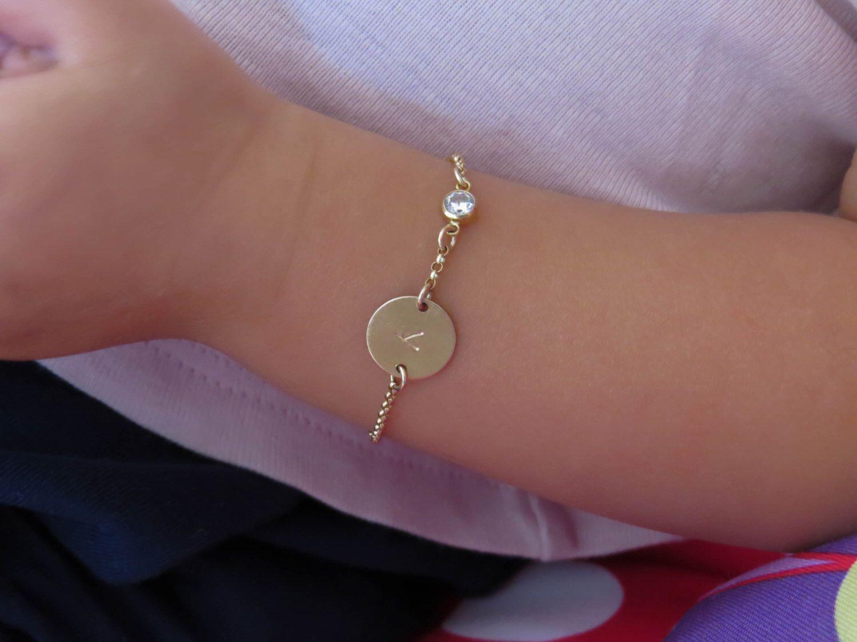 Infant bracelet baby bracelet child bracelet gold bracelet gold