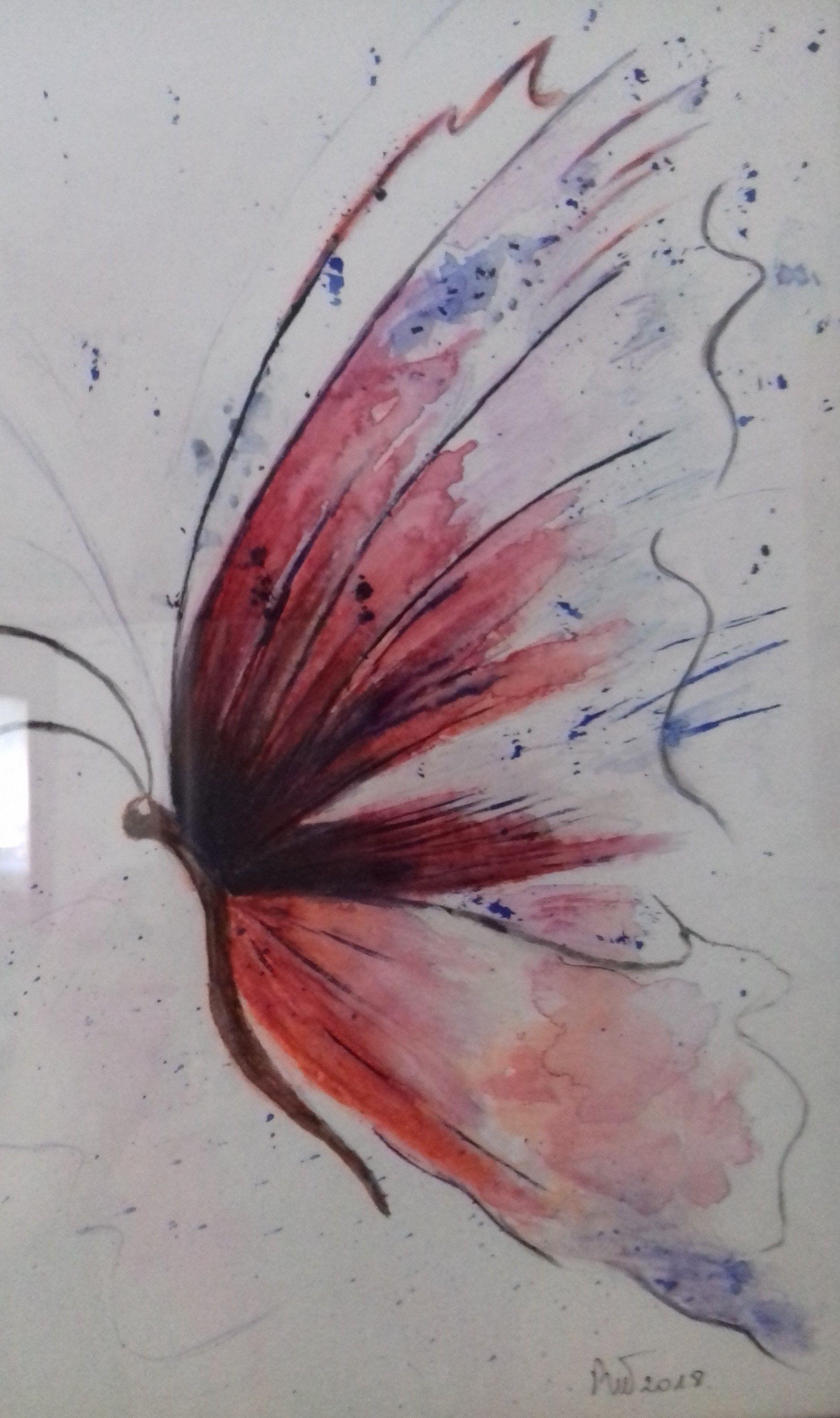 Papillon Avec Crayons Aquerelle Crayon Papillon