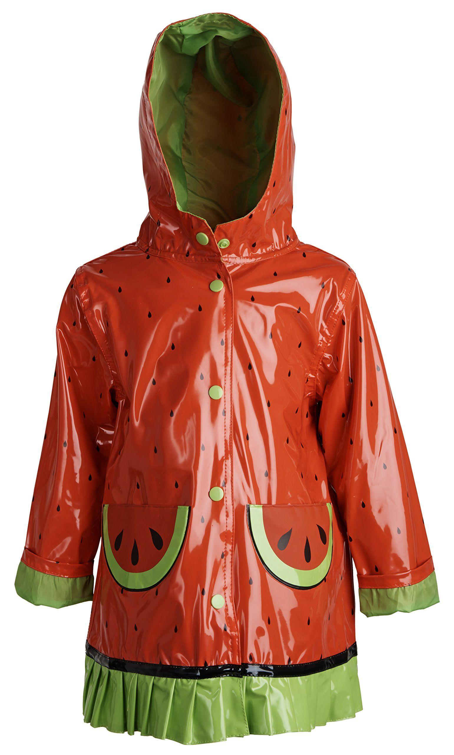 9f542fb5da Wippette Baby Girls Waterproof Vinyl Fully Lined Hooded Raincoat ...