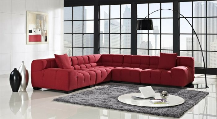Schön Rotes Sofa