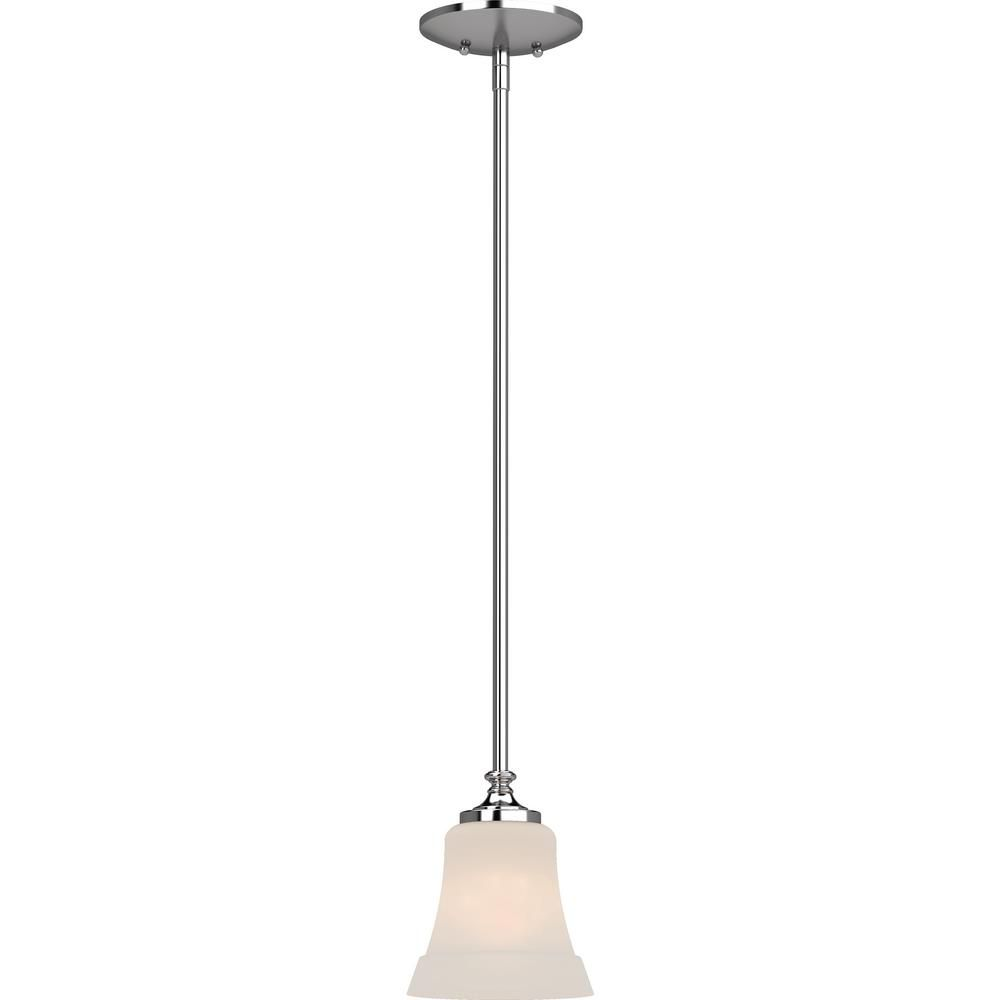 Volume Lighting Tes 1 Light Chrome Indoor Mini Pendant With Frosted Glass Bell Shade 3181 3 The Home Depot Volume Lighting Simple Lighting Frosted Glass