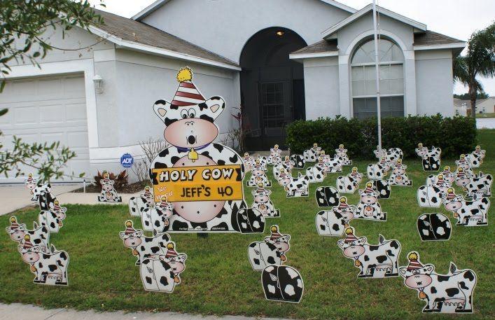 FUN FUN FUN! Birthday Lawn Decorations are the best gift ...
