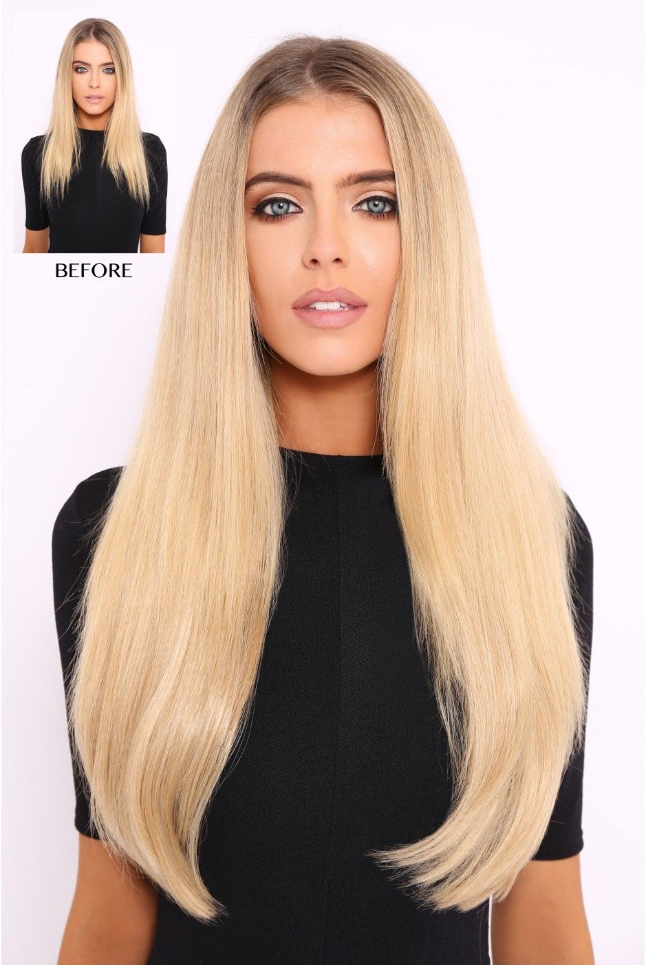 Super Thick 250g 8 Piece Straight Hair Extensions Beautiful Long
