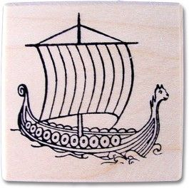 af8df020c38 Viking Ship Rubber Stamp - available from ingebretsens.com