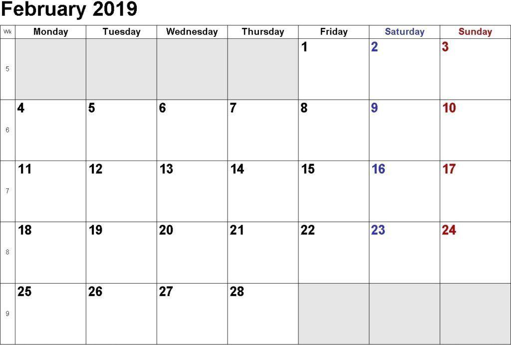 February Calendar 2021 Printable Notes And To Do List Calendar