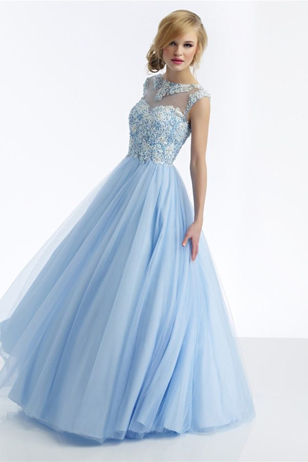 Blue cinderella dress for prom