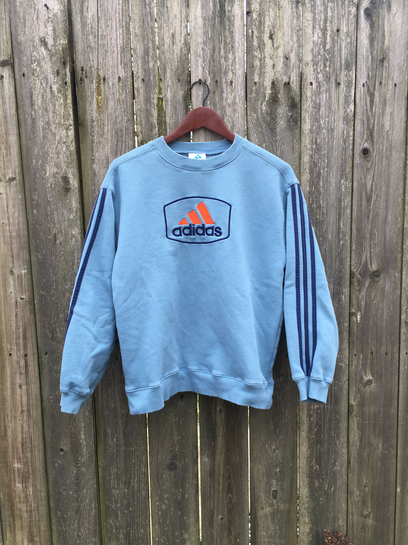 Vintage 90 S Adidas 3 Stripe Light Blue Long Sleeve Etsy In 2021 Long Sleeve Sweatshirts Sweatshirts Women Sweatshirts [ 3000 x 2250 Pixel ]