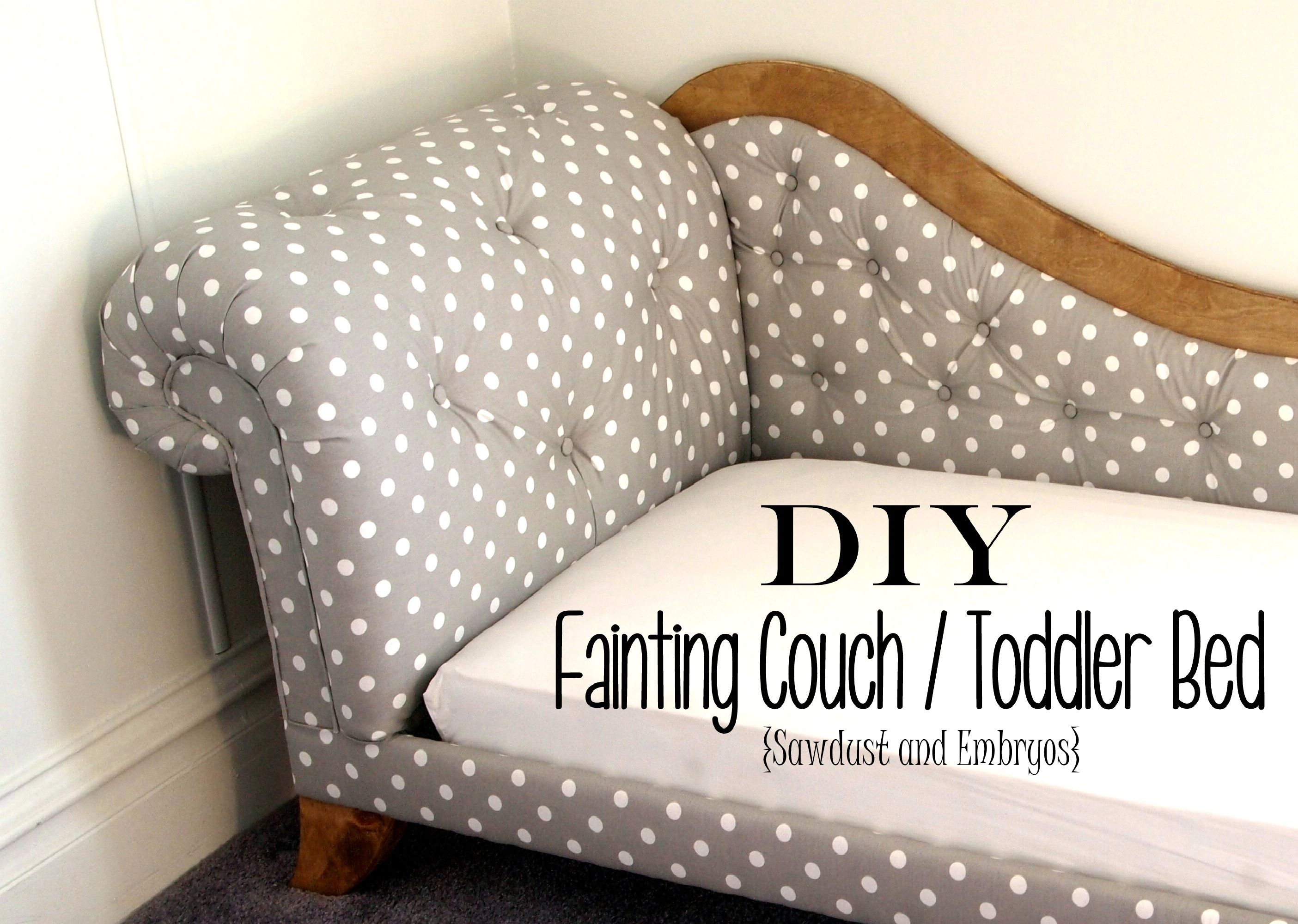 Toddler Bed Fainting Couch Tufting & Upholstery