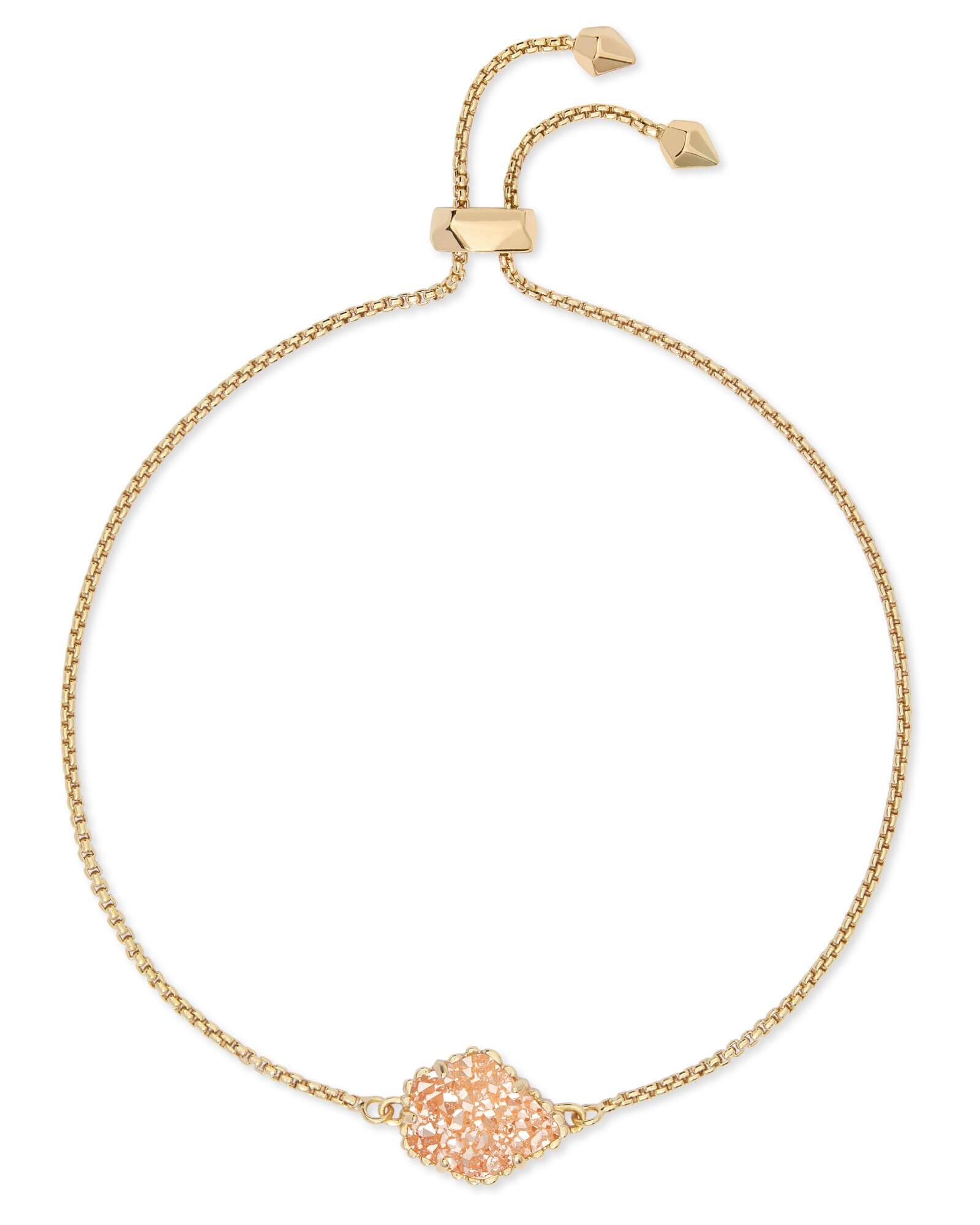 a332d25798249 Kendra Scott Theo Gold Adjustable Chain Bracelet in Sand Drusy ...