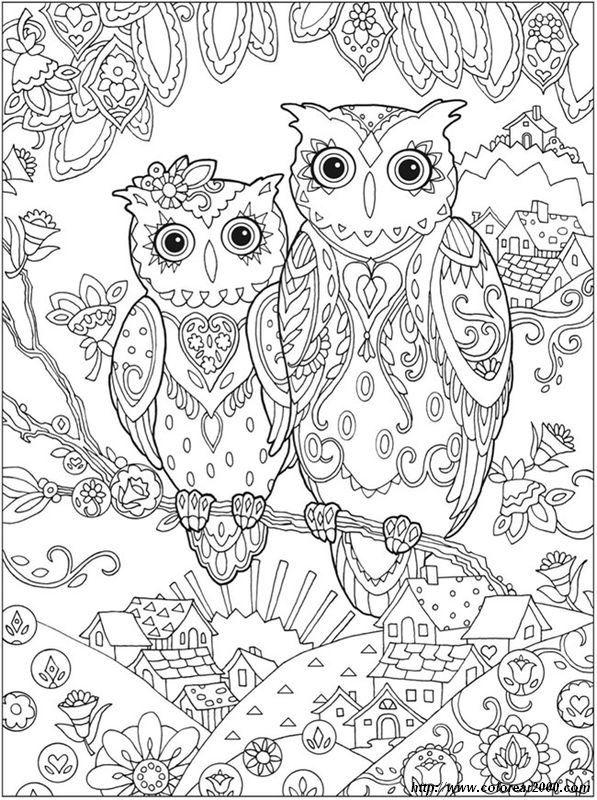 imagen Aves para colorear | owl color pages | Pinterest | Colorear ...